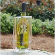 Monogrammed Acrylic Wine Cooler - As any wine connoisseur knows, white wine is best when it's icy cold.  http://www.bellelanehome.com/morgan-company-monogrammed-acrylic-wine-cooler/