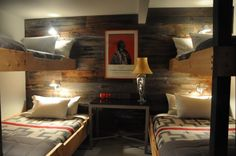 Cabin bunk beds. Chic Cabin Design   Living Well 7