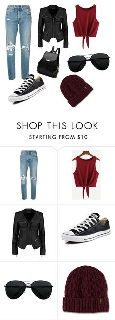 """Cool Fall look."" by lola-bihan ❤ liked on Polyvore featuring Levi's, Boohoo, Converse and Dr. Martens"