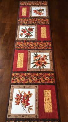 Maple Island Table Runner by QuiltedGiftsbyVicki on Etsy Quilted Table Runners Christmas, Patchwork Table Runner, Table Runner And Placemats, Table Runner Pattern, Christmas Tables, Plus Forte Table Matelassés, Island Table, Place Mats Quilted, Quilted Table Toppers