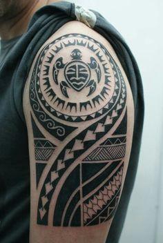 Só fiz algumas alterações!! rsrs. Tribal Turtle Tattoos, Tribal Shoulder Tattoos, Mens Shoulder Tattoo, Dr Tattoo, Samoan Tattoo, Arm Band Tattoo, Polynesian Tattoo Meanings, Polynesian Tribal Tattoos, Black Tattoos