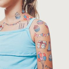 Celebrate something with these temporary tattoos by Tattly