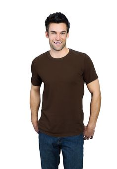 expresso brown ONNO bamboo and organic t-shirt for men. Get your coffee fix all day long with this shade in a soft textile. Also available in hemp.