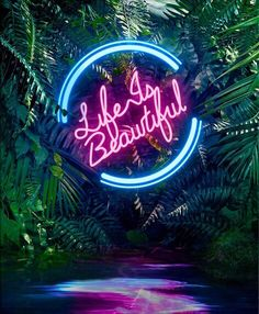 interiors + exteriors | life is beautiful neon sign
