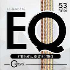 Cleartone EQ - Hybrid Metal Series Light Acoustic Guitar Strings (12-53)