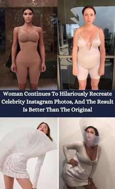 If you aren't new to Bored Panda, you probably remember Celeste Barber - an Insta-famous comedian from Australia who gained her enormous following by hilariously recreating celebrity photos. #Hilariously# Recreate #Celebrity #InstagramPics