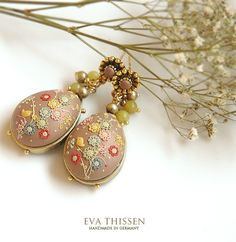 SALE CARNAVAL D'OR handmade earrings by EvaThissen on Etsy