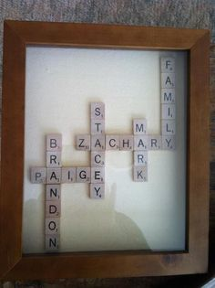 Scrabble Art: look cheap used games at garage sales and start gluing then place in a frame!