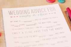 Wedding Mad Libs: Wedding Advice for Bridal Shower PDF Digital DIY Printable Download. $15.00, via Etsy.