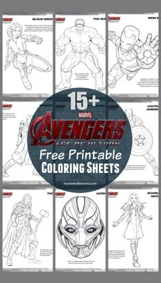 Avengers Age of Ultron Free Coloring Sheets