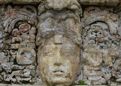 Amazing relief technique in the archeological zone of Palenque