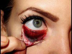 Halloween Make up Zombie FX (special effects) Horror Makeup, Scary Makeup, Sfx Makeup, Alien Makeup, Prosthetic Makeup, Costume Makeup, Face Makeup, Zombie Makeup Tutorials, Makeup Tutorials Youtube