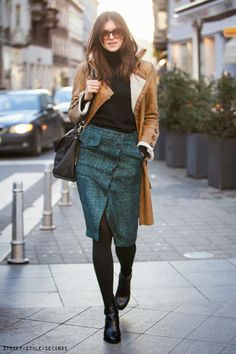 everything looks better with a pencil skirt, Street Style Seconds