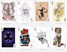 From the two of clubs to the ace of spades, each card in this deck has been individually designed by one of the 54 selected international artists in their distinct style and technique.