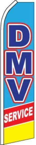"""Dmv Service"" Super Flag Swooper Banner Advertising Department Of Motor Vehicle"