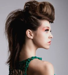 my hair would never do this but love the lil long hair faux hawk #hairstyle