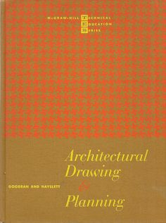 VINTAGE TEXT BOOK Architectural Drawing & Planning by HazelCatkins, $10.00