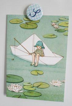 My Paper Boat Blank Greetings Card by belleandboo on Etsy, £2.50