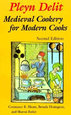 I recently purchased this cookbook full of Medieval recipes (the fun part is it even contains the original text of the recipes in Middle English - mostly).  I plan to cook a four course Medieval feast one of these days!