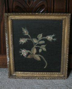 Decorative Arts & Furnishings, 19th Century Botanical Silk Embroidery