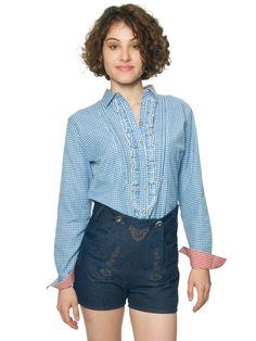 Lederhosen olashorts til dame - Oktoberfest kostyme