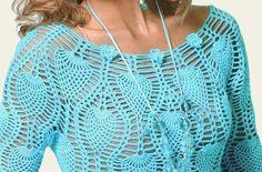 Vestido de crochet patrón de la piña