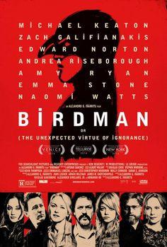 Kunstzinnige nieuwe poster Oscar-kandidaat 'Birdman'