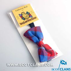 Clan Galloway Red Tartan Bow Tie