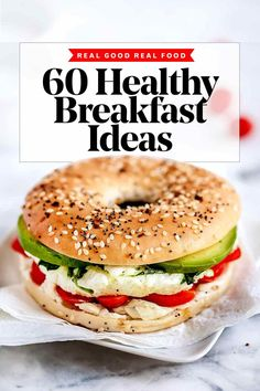 60 Breakfast Ideas When There's No Time to Eat   foodiecrush.com Healthy Breakfast Recipes, Healthy Drinks, Vegetarian Recipes, Healthy Recipes, Healthy Breakfasts, Breakfast Ideas, Healthy Foods, Brunch Ideas, Diet Foods