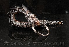 Dragon Keychain 3 by Redcrow at Corvus Chainmaille, via Flickr