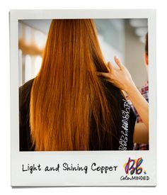 Long straight copper red hairstyle