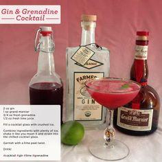 Gin & Grenadine cocktail #recipe