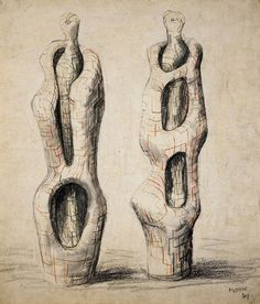 Henry Moore Sculpture Drawings C l i v e p o w s e y p b topsy. Human Sculpture, Abstract Sculpture, Sculpture Art, Abstract Art, Sculpture Ideas, Metal Sculptures, Bronze Sculpture, Natural Form Artists, Henry Moore Drawings