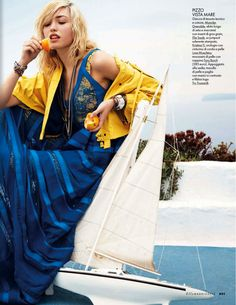 sailor made: cora keegan by carlotta manaigo for elle italia may 2013 | visual optimism; fashion editorials, shows, campaigns & more!