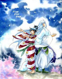 Kagura e Sesshoumaru