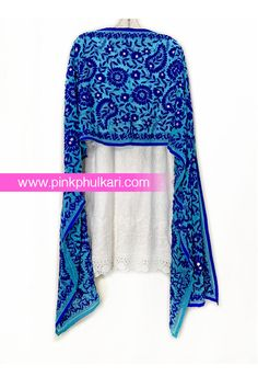 PinkPhulkari California Phulkari Stole. To shop Visit our website www.pinkphulkari.com Images copyrights@PinkPhulkari California All rights reserved. Scarfs, Shawl, California, Website, Shopping, Image, Scarves, Wedding Shawl, Veils