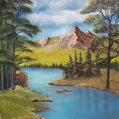 Original oil painting Tunstall pike By A+K A+K Studios - Malerei Beautiful Paintings Of Nature, Nature Paintings, Beautiful Landscapes, Watercolor Landscape, Landscape Art, Landscape Paintings, Waterfall Paintings, Galerie D'art, Painting Workshop