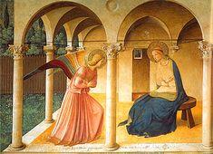 L'Annonciation, fresque, Fra Angelico, Florence, Couvent de San Marco