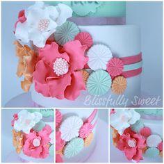 Blissfully Sweet: Ruffles, Booties & Blooms Naming Day Cake