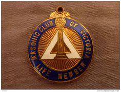 Médaille Franc Maçonnerie Loge Victoria