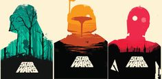 Minimal Star Wars Poster Set. All 3 or di LilRedDotDesigns su Etsy