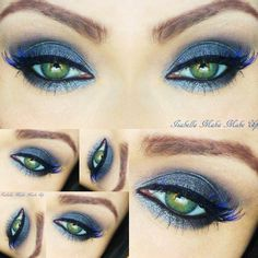 Spell beautiful! This eye do is truly bewitching. See the makeup list here.