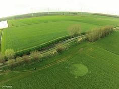 Crop circles, first recorded in 2016 in the Netherlands, April 8