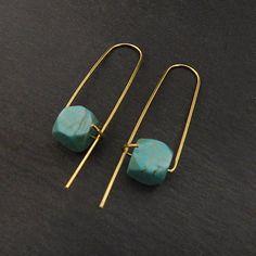 Turquoise earrings Turquoise drop earrings Turquoise dangle