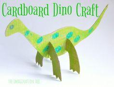 Cardboard Dinosaur Craft for Kids!