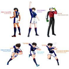 The Aces of All-Japan. **Game Character Artworks © Captain Tsubasa: Rise of New Champions. **Wallpaper by Captain Tsubasa, Naruto Team 7, Bandai Namco Entertainment, Good Soccer Players, Star Wars, New Champion, The New Wave, Kids Learning Activities, Football