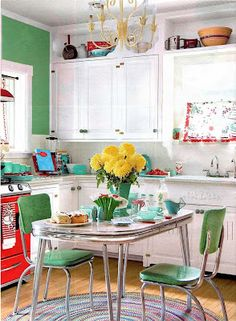 Retro kitchen decor on pinterest retro kitchens retro for Small retro kitchen