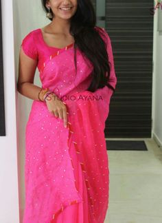Simple pink saree @ love  it @