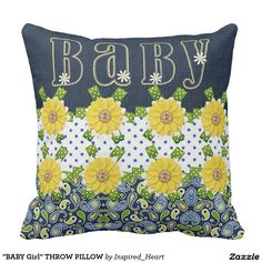 """BABY Girl"" THROW PILLOW"