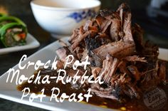Slow cooker mocha-rubbed pot roast- paleo, whole 30 approved Pot Roast Recipes, Paleo Recipes Easy, Whole 30 Recipes, Slow Cooker Recipes, Whole Food Recipes, Cooking Recipes, Slow Cooking, Dinner Recipes, Beef Recipes